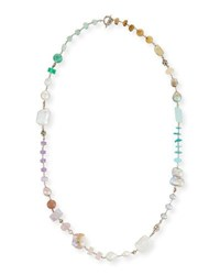 Stephen Dweck Long Mixed Bead Single Strand Necklace