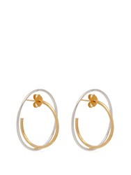 Charlotte Chesnais Saturn 18Kt Gold And Sterling Silver Earrings