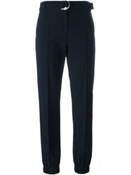 Kenzo Cropped Trousers Blue