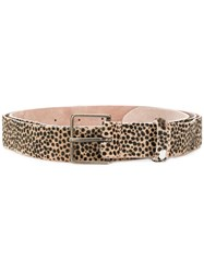 Forte Forte Animal Printed Belt Nude And Neutrals