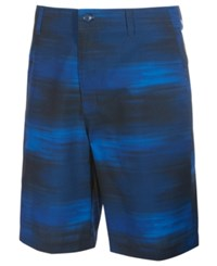 Greg Norman For Tasso Elba Men's Mono Performance Abstract Print Shorts Only At Macy's Blue Socket