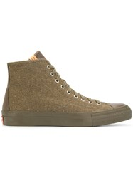 Visvim Skagway Hi Top Sneakers Green