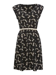 Therapy Dragonfly Dress Black
