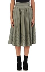 Maison Mayle Women's Striped Silk Cotton A Line Skirt No Color
