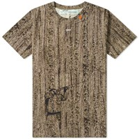 Off White Real Camo Diagonals Slim Tee Brown