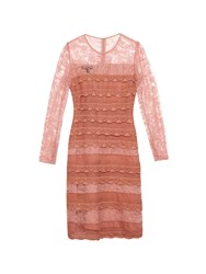 Burberry Tiered French Lace Dress