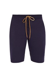 Paul Smith Cotton Jersey Shorts Navy