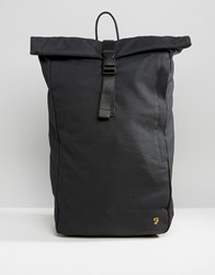 Farah Canvas Rolltop Backpack Black Black