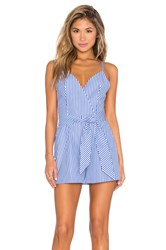 Finders Keepers Blow Your Mind Romper Blue