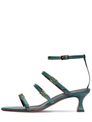Manu Atelier 50Mm Leather Sandals Turquoise