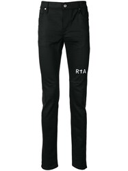 Rta Embroidered Logo Skinny Trousers Black