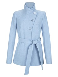 Hobbs Austen Wool Blend Coat Celestial Blue