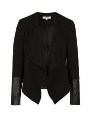 Morgan Jacket With Asymmetrical Lapels Black