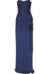 Halston Pleated Jersey Gown