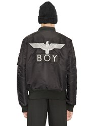 Boy London Reversible Nylon Bomber Jacket Black White