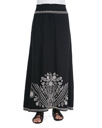 Johnny Was Collection Embroidered Linen Maxi Skirt Women's