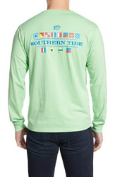 Men's Southern Tide 'Nautical Flags' Long Sleeve Graphic T Shirt