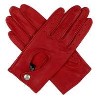 Dents Ladies Lambskin Leather Driving Glove Berry