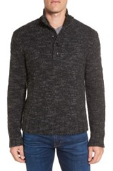 Grayers 'Jennings' Button Mock Neck Wool Blend Sweater Black
