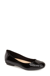 Earth 'Bellwether' Flat Black Crinkle Patent Leather