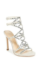 Imagine By Vince Camuto Women's Galvin Sandal Ivory Satin