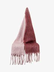French Connection Ceri Wool Scarf Smoky Orchid Rose Red