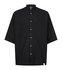 Magic Stick Bat Wing Cotton Shirt Male Black