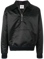 Noon Goons Pouch Pocket Bomber Jacket Black