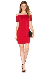 1.State Off Shoulder Bodycon Dress Red