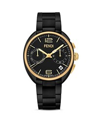 Fendi Momento Stainless Steel Watch 40Mm Black