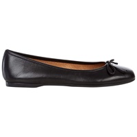 Hobbs Prior Square Toe Ballerina Pumps Black Leather