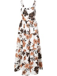 Nicholas Long Floral Day Dress White