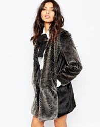 Unreal Fur Milky Way Coat Greyandblack