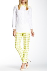 Paperwhite Collections Houndstooth Print Pant Yellow