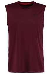 Asics Sports Shirt Rioja Red