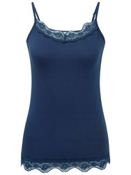 Pure Collection Maida Lace Jersey Camisole French Navy
