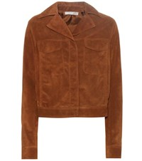 Vince Moto Suede Jacket Brown