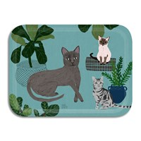 Avenida Home Anne Bentley Cats Tray Blue