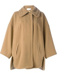 Chloe Chloe Oversized Collar Coat Brown