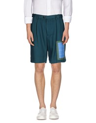 Umit Benan Trousers Bermuda Shorts Men Deep Jade