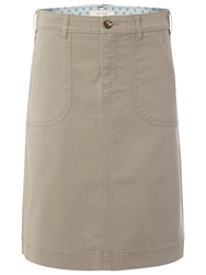 White Stuff Chino Skirt Natural