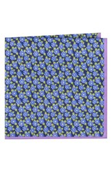 Ted Baker Men's London Monmouth Floral Cotton Pocket Square Navy