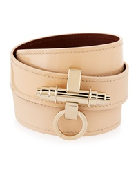 Givenchy Obsedia Triple Wrap Leather Bracelet Beige