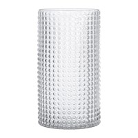 Bloomingville Dotted Cylindrical Glass Vase Clear 30Cm