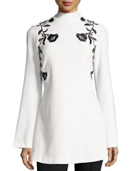 Cinq A Sept Rosabell Floral Open Back Tunic Ivory