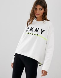 Dkny Sweatshirt With Embroidered Logo White