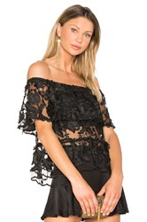Backstage The Garden Party Top Black