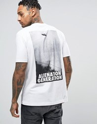 Antioch Alien Generation Back Print T Shirt White