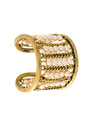 Chanel Vintage Beaded Cuff Metallic