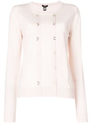 Class Roberto Cavalli Hoops Embellished Jumper Pink And Purple